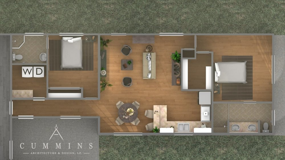 3D renderings of a guest house