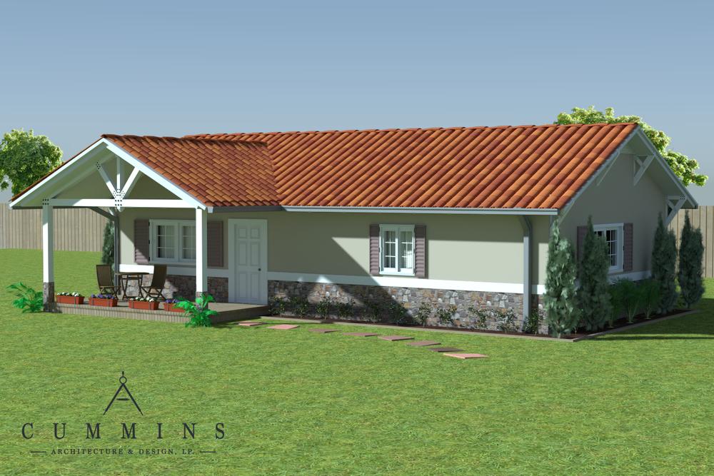 Guest house 3D renderings