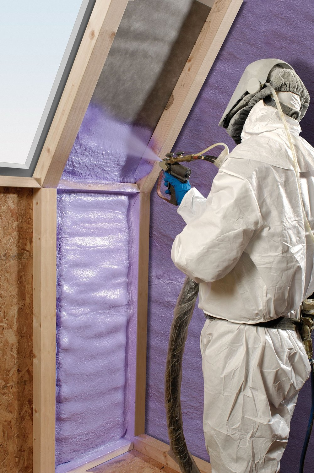 Applying insulation