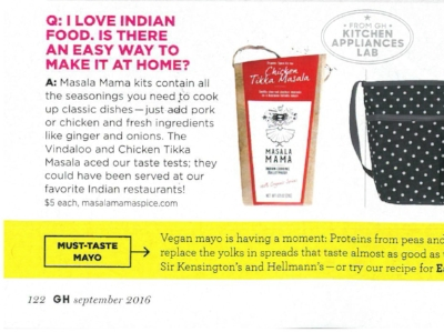 Masala Mama featured in Good Housekeeping magazine