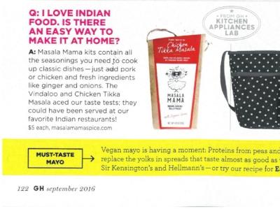 Masala Mama featured in Good Housekeeping magazine