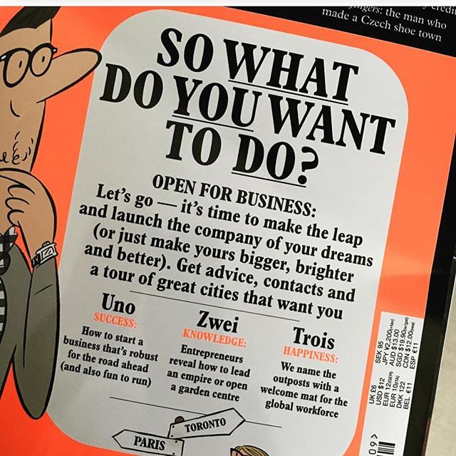 So what do you want to do? #monoclemagazine