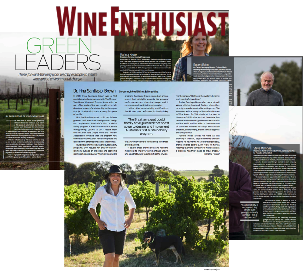 Inkwell wines Dr Irina Santiago Brown Dudley McLaren Vale red wine best green leaders.png