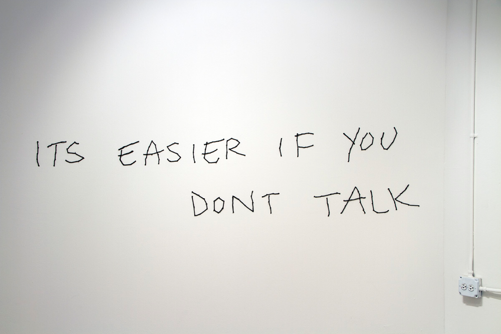 It's easier if you don't talk