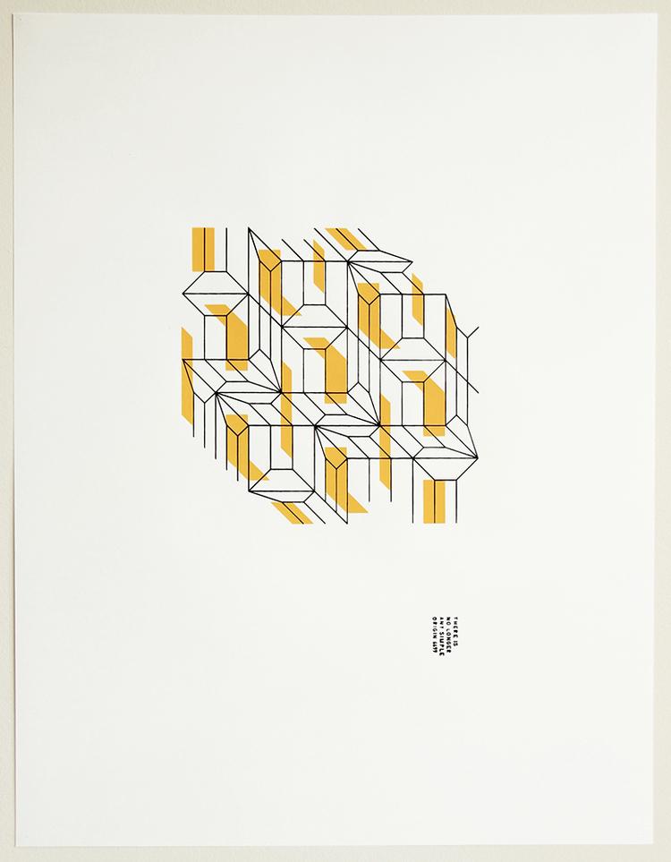 binarios (Dialéctica)-2014 Serigrafia dos colores Dimensiones w:45cm h:60cm Serie de 6 $70.000.-