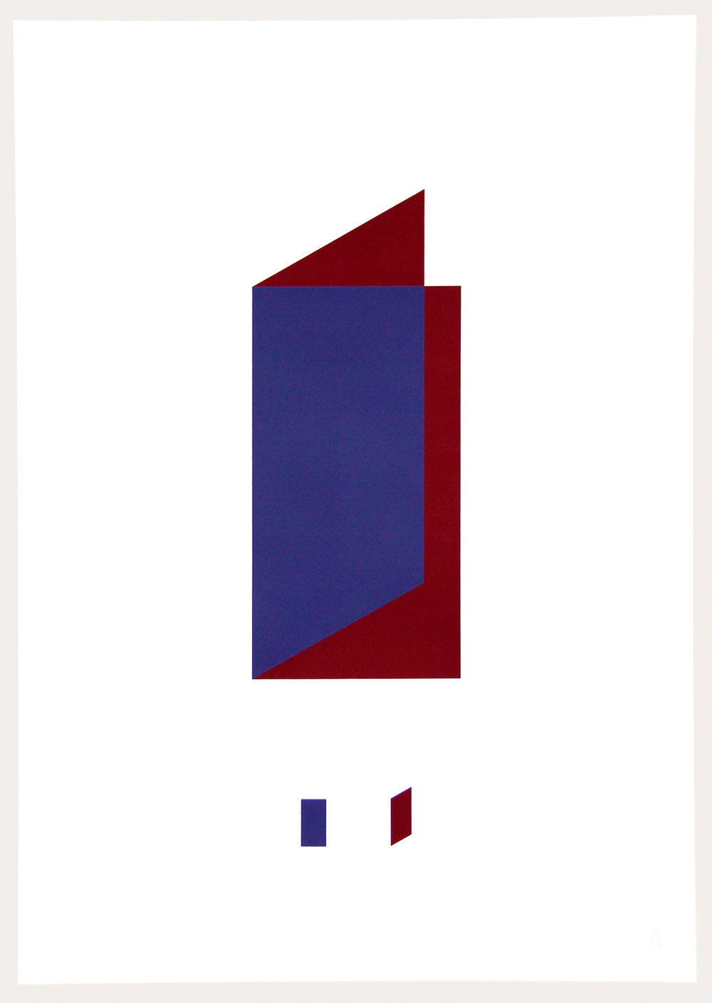 inout (Dialéctica)-2016 Serigrafia dos colores Dimensiones w:47cm h:67cm Serie de 5 $70.000.-