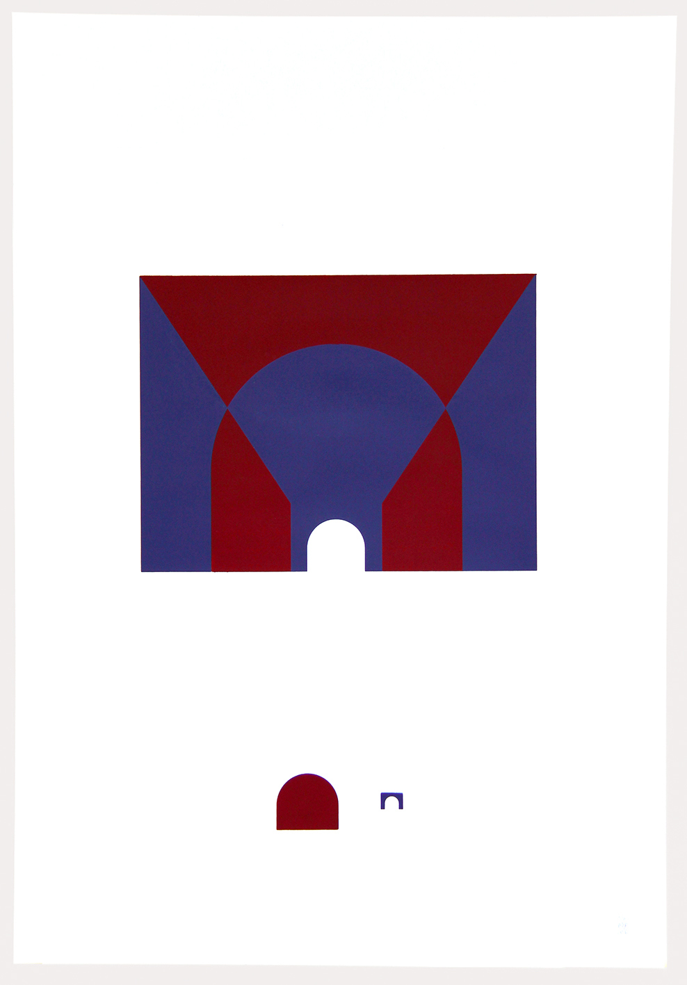 inout (Dialéctica)-2016 Serigrafia dos colores Dimensiones w:47cm h:67cm Serie de 6 $70.000.-
