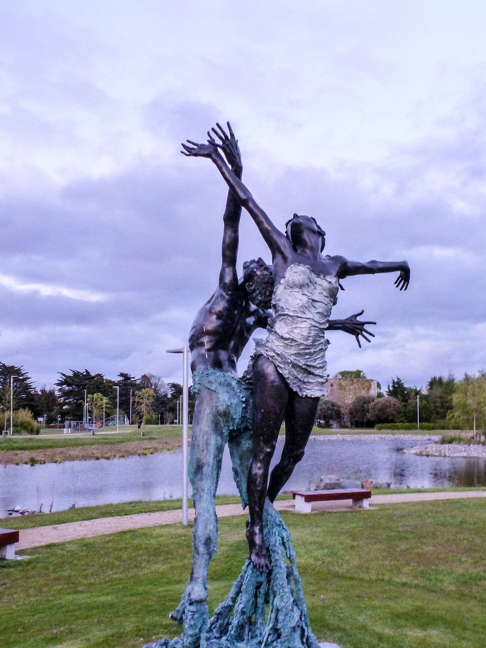 "At UCD, I walked here just before sunset, ""Wind and Water"" representing harmony, more info  here"