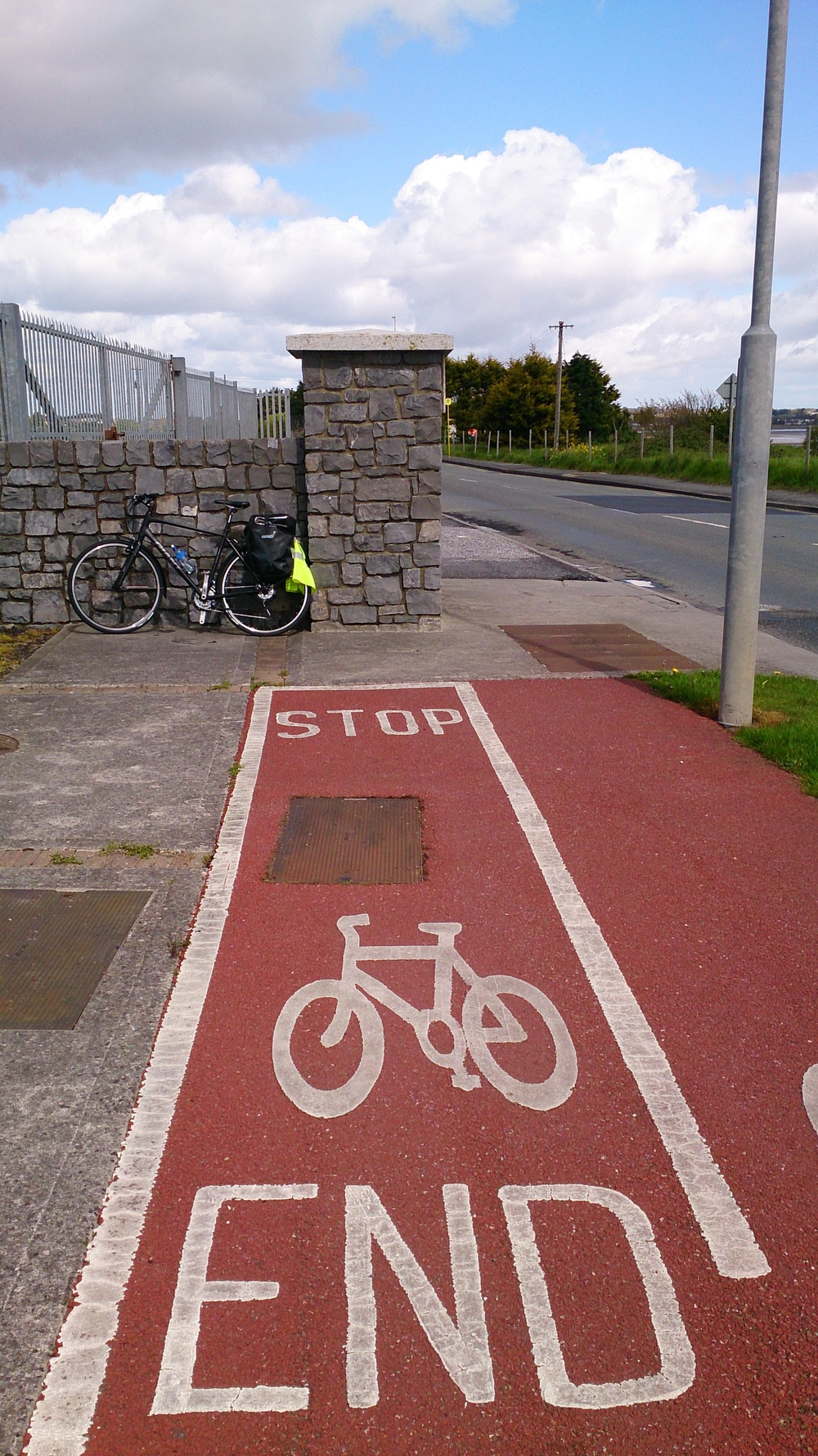 Bicycle lanes in Dublin could be summed up by this image