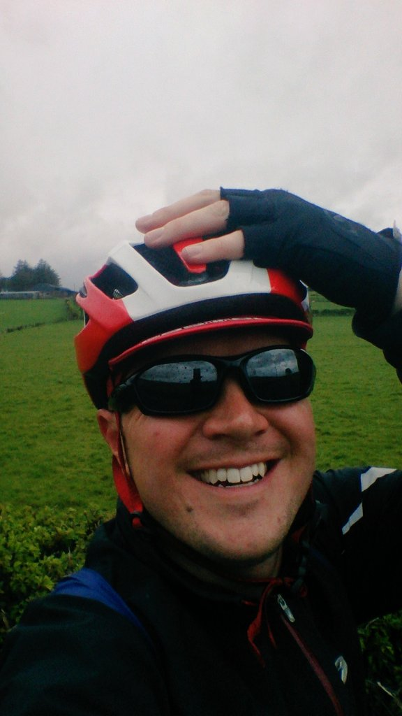 Staying positive as usual, I wore sunglasses even in the rain...optimism!