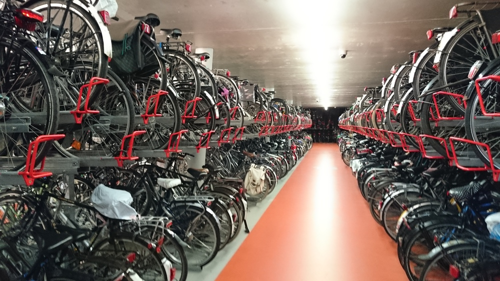 Fietsenstalling at Haarlem Centraal Station