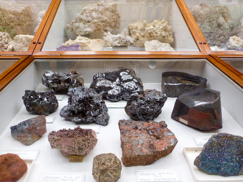 Geological specimens of all shapes and colours.