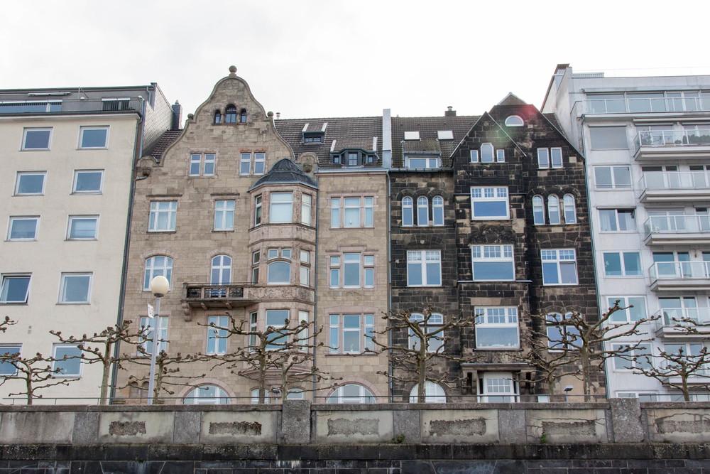 Dusseldorf Riverfront Architecture