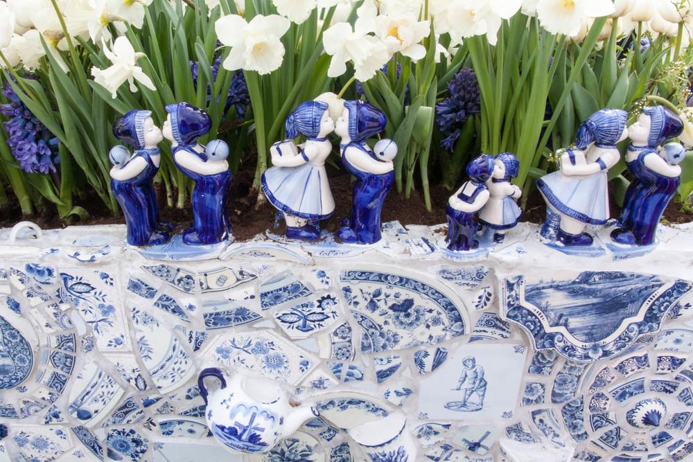 Keukenhof garden Delft blue