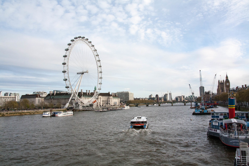 Thames and London Eye