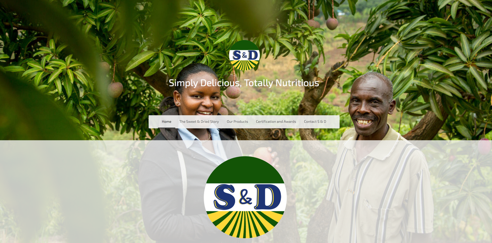 Website, logo and packaging redesign for Sweet n Dried Enterprises in Chuka, Kenya.
