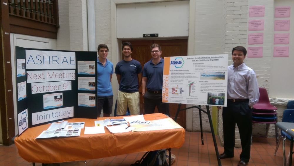 Student Chapter Members, Scot Hacker, and Andrew Bosse
