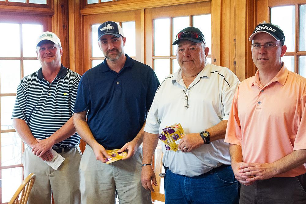 Bob Sterling, Ryan White, Leon Archer, and John Buchanan - Members of winning teams!