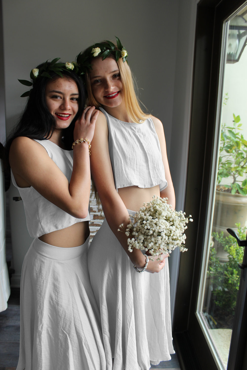 AU & Co. Custom Bridal white crop top and white skirt.jpg