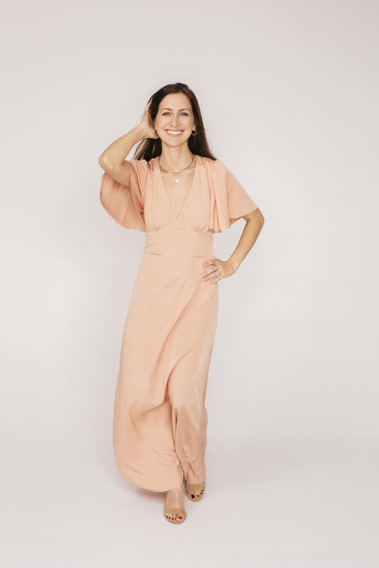 5ef2cbb4e0d60 Joanne dress in blush flutter sleeve bohemian style boho 2.
