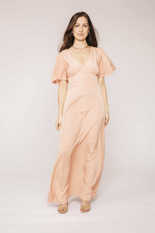 81f6312f26421 The Joanne Dress - Desert Blush — AU & Co.