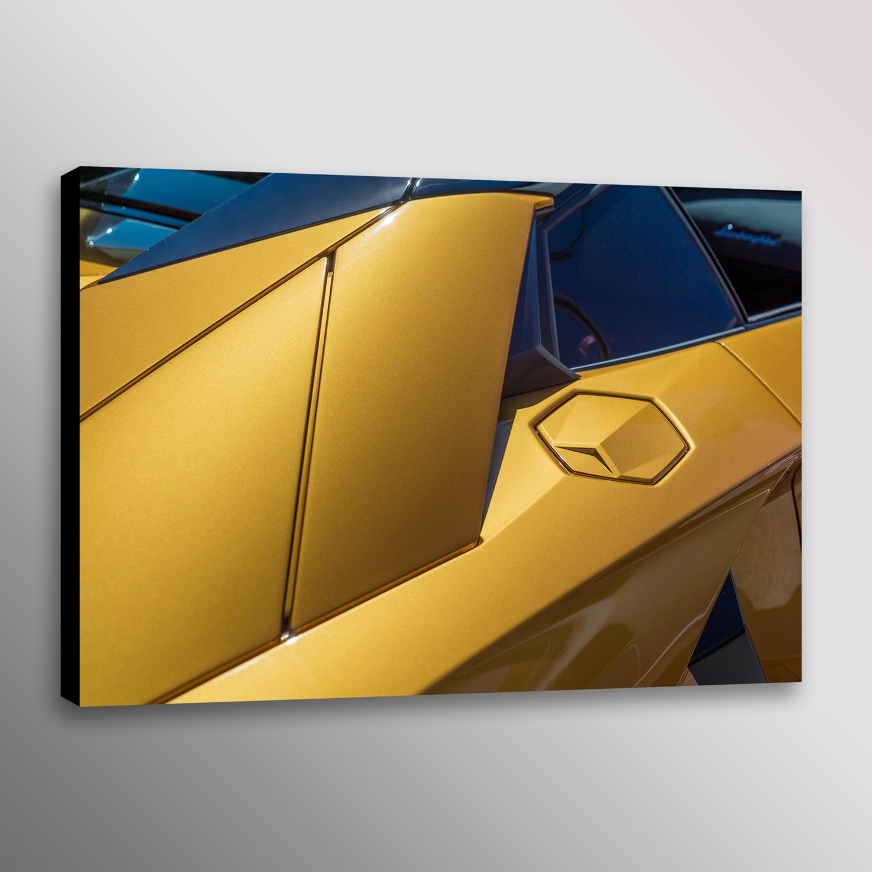 Yellow Lamborghini Aventador Supercar Car Autonotive Photo Wall Art ...