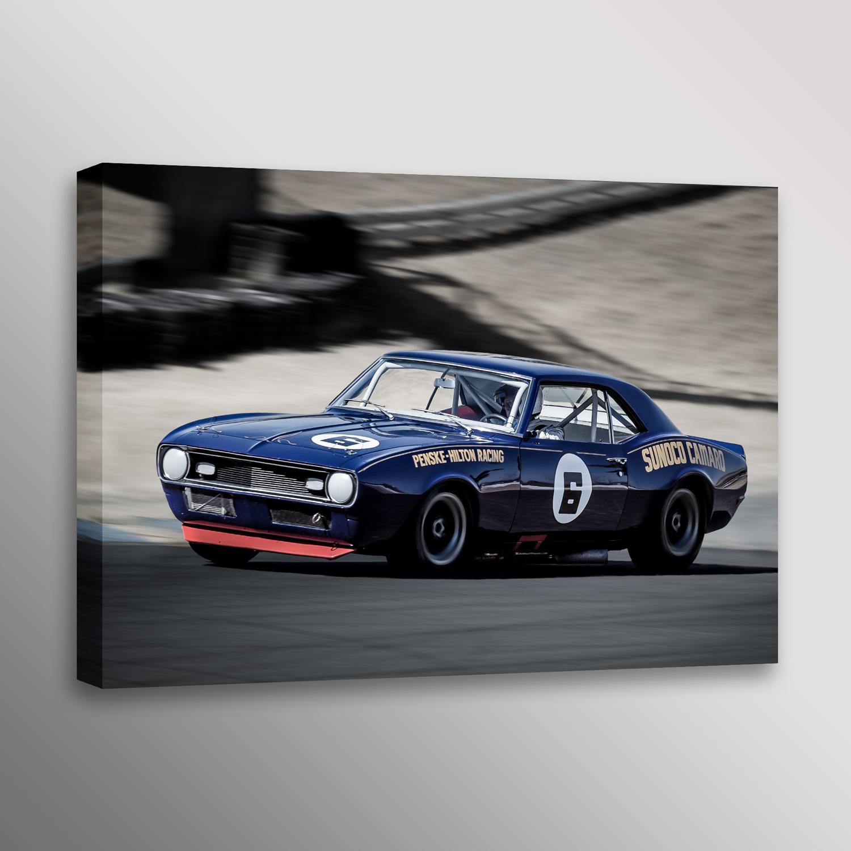 1968 Penske Sunoco Camaro Trans-Am Racecar Wall Art — Dennis ...