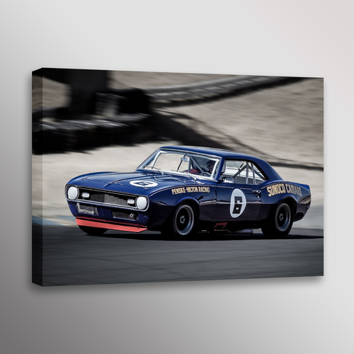 1968 Penske Sunoco Camaro Trans-Am Racecar Wall Art Canvas Print ...