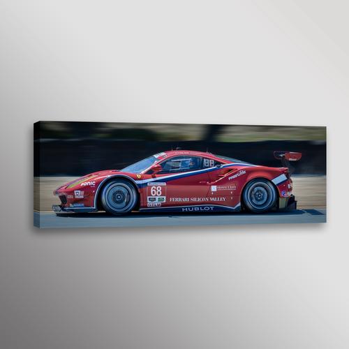 Red Ferrari 488 GTB IMSA Racecar Car Photo Automotive Wall Art ...