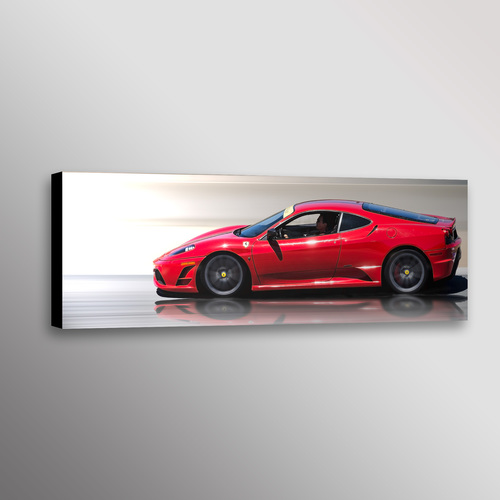 Red Ferrari F430 Exotic Car Photo Wall Art Canvas Print — Dennis ...