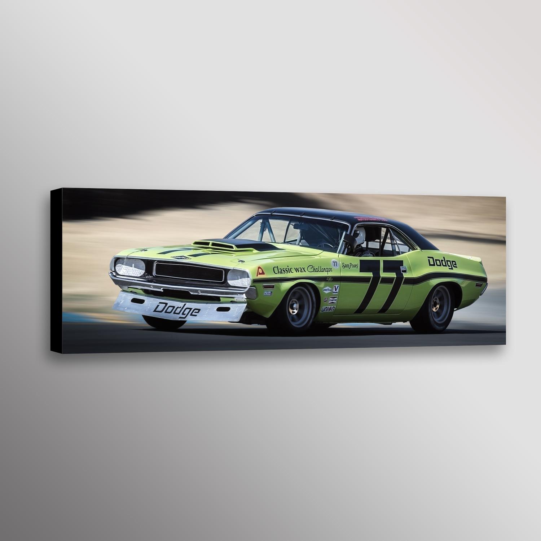 Sam Posey Dodge Challenger Trans-Am Racecar Photo Automotive Wall ...