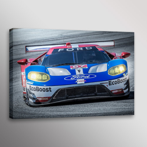Ford Gt  Imsa Car Racecar Automotive Photo Wall Art Canvas Print
