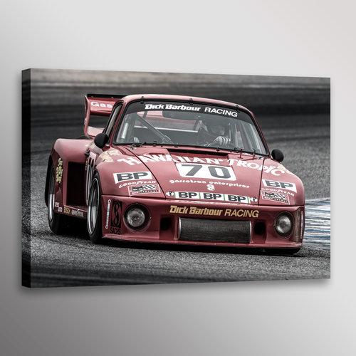 Classic Porsche 935 #70 Racing Car Photo Automotive Wall Art Canvas ...