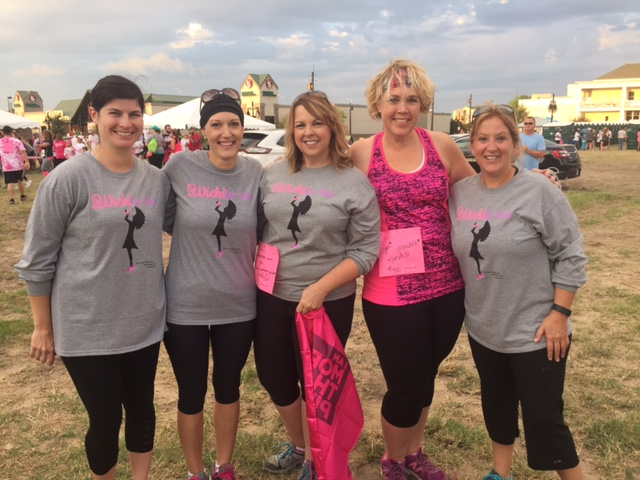 Race for the Cure - September 24  From left to right:    Erin (Goodnight) Hocking ,  Sarah Oenning ,  Karla (Gordon) Claycamp ,  Lori (Reynolds) Craig   Steph King