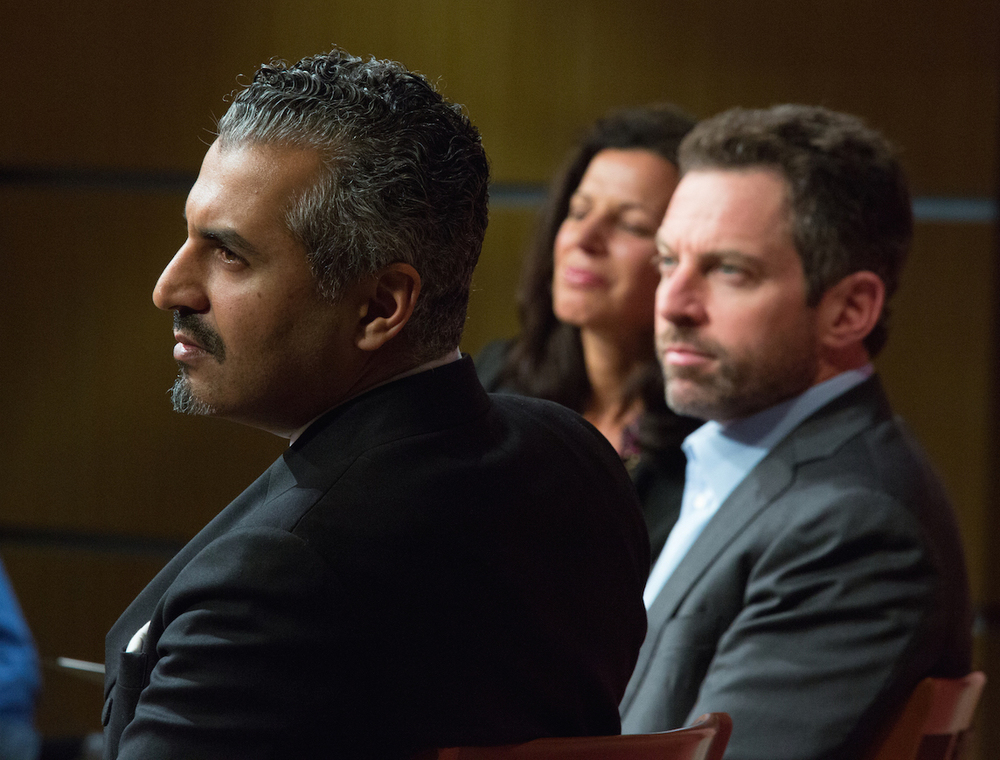 Maajid Nawaz with Sam Harris, talking about their collaborative book.