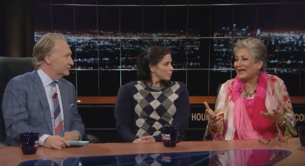 Raheel Raza on Real Time with Bill Maher along with Sarah Silverman