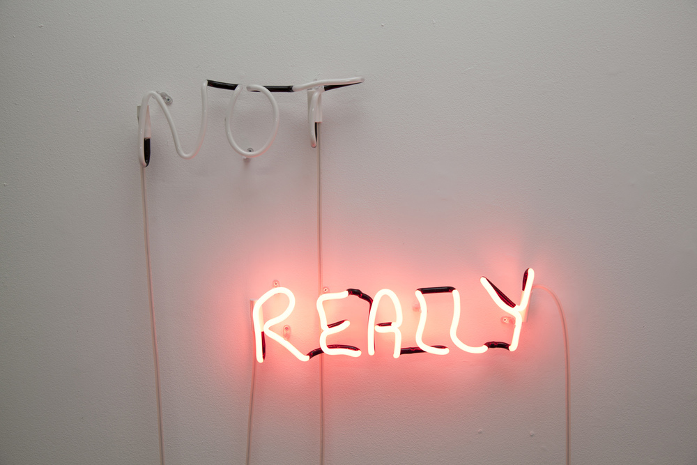 Not Really (2013) Neon, 0.5 x 0.8m