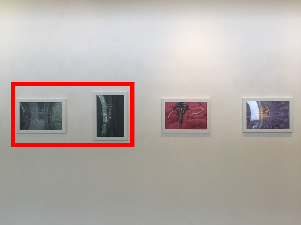 photograph taken by staff at CICA Museum, work stroked in red made by CAS