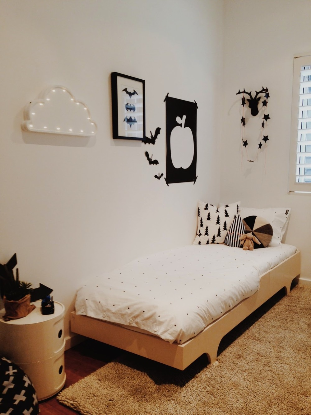 Room tour modern black and white kids room the little