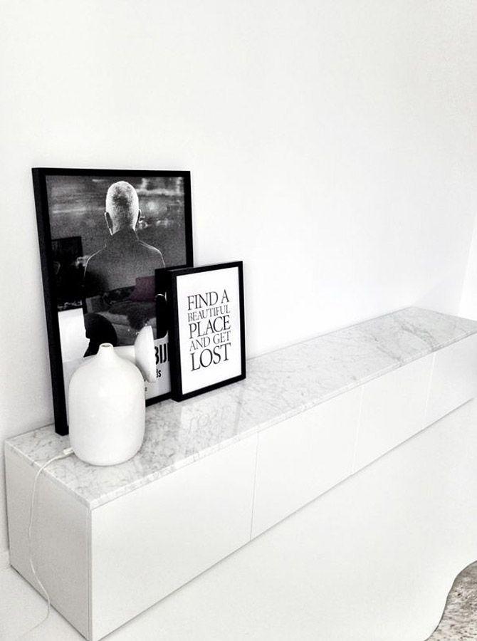 Ikea besta hacks interior styling the little design corner - Table de salon en marbre ...
