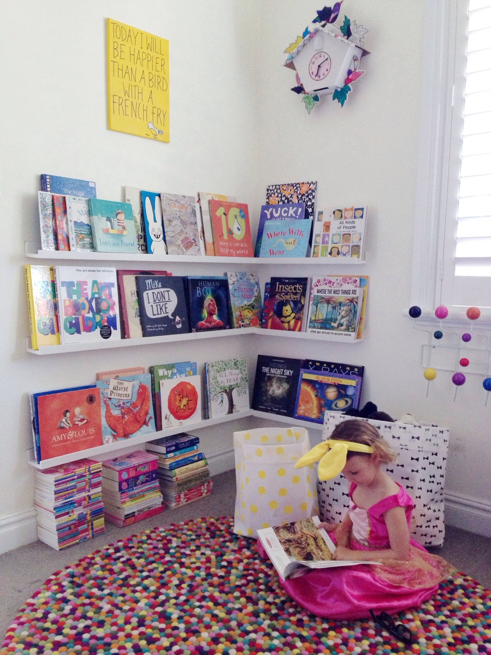 Lovely Izzy enjoying her new reading area. Eva was at school the day we popped past for photos.