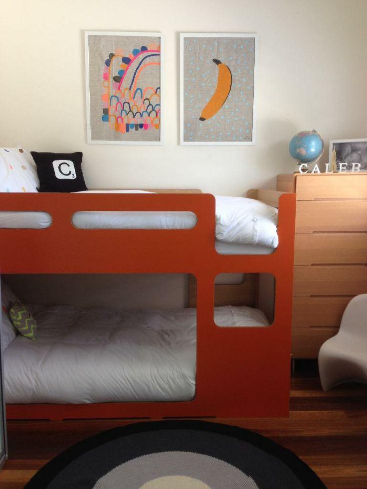 room tour my 6 year old and his orange bunk bed the little design corner. Black Bedroom Furniture Sets. Home Design Ideas