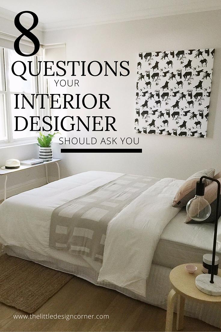 8 questions your interior designer should ask you the - Questionnaire for interior design clients ...