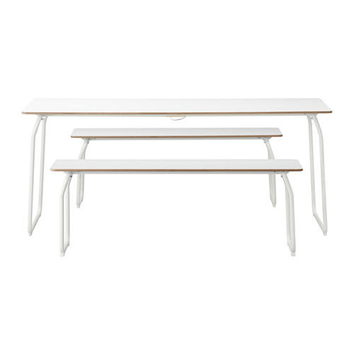 Ikea Ps Table Benches In Outdoor White__0311577_PE513835_S4.JPG