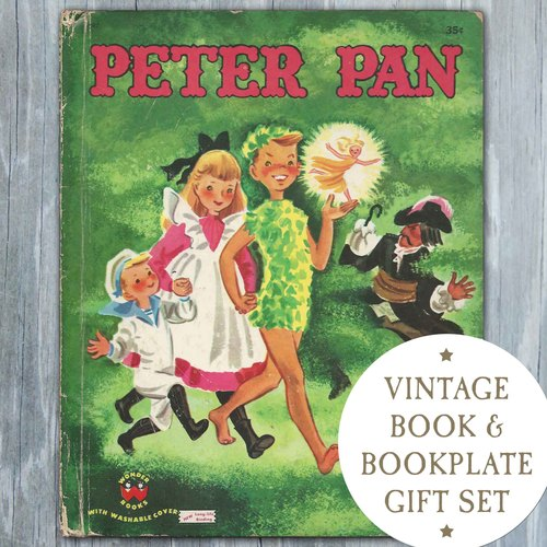 Vintage Book  Bookplate Gift Set  Peter Pan  1952  Your Choice
