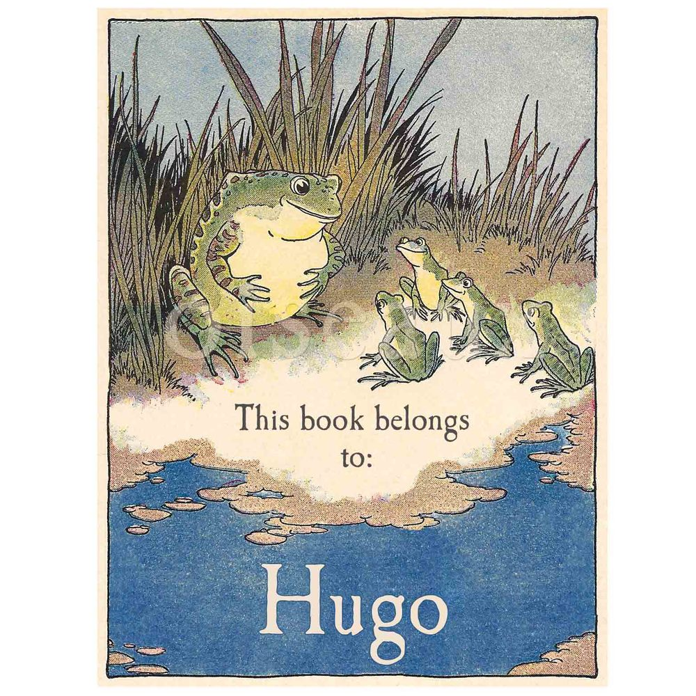 Vintage Frogs Bookplates