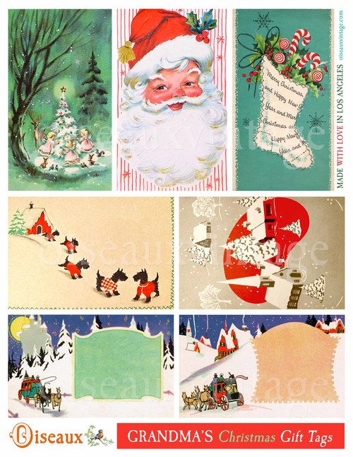 grandma s christmas gift tag set print your own vintage loveliness