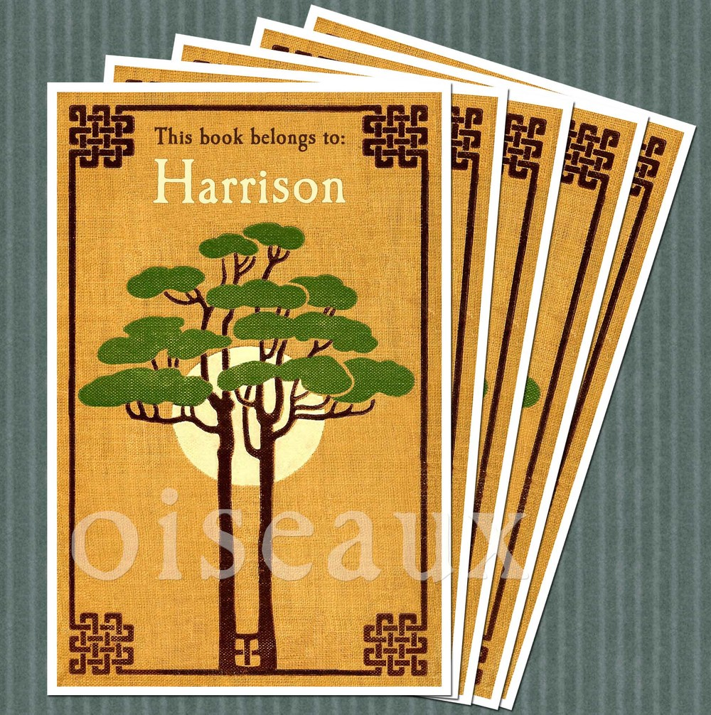 Sunset Tree Bookplates
