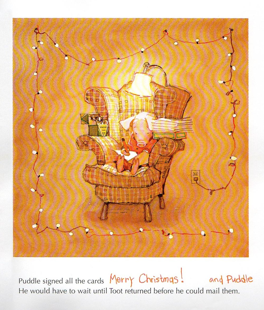 will a man driving a sleigh have something to do with it gorgeous watercolor illustrations are perfection the end of the story is darling - I Will Be Home For Christmas