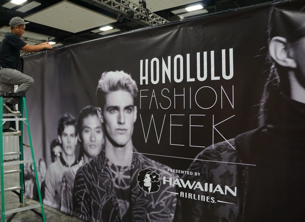 A 19' wide custom graphic featured black and white imagery from last year's HFW.